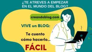 Imagen atrévete a crear un blog