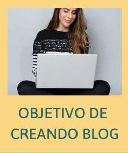 Imagen objetivos de creando blog