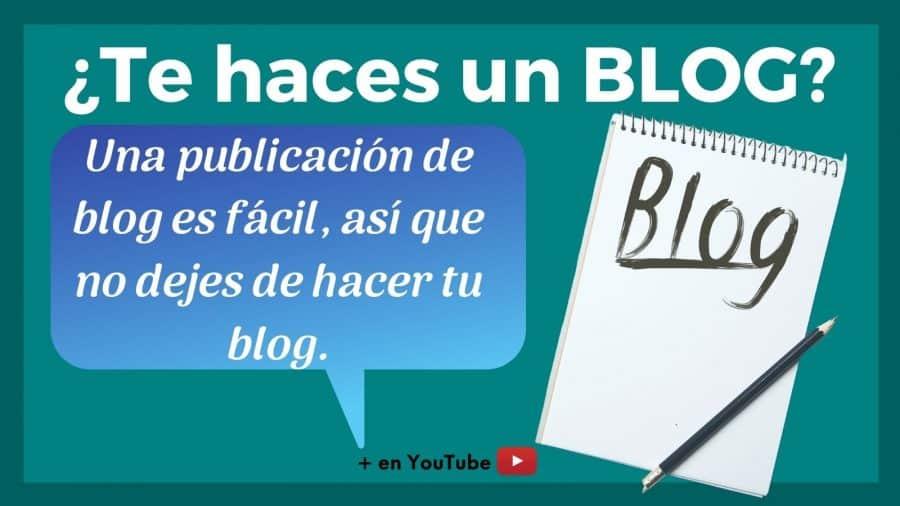 imagen para animarte a crear un blog a que te hagas tu blog