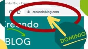 imagen de un dominio web