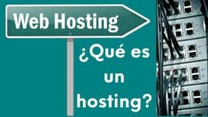imagen qué es un hosting o alojamiento web