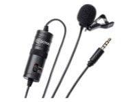 Micrófono de clip para smartphones, DSLR, videocámaras, grabadoras de audio, PC,
