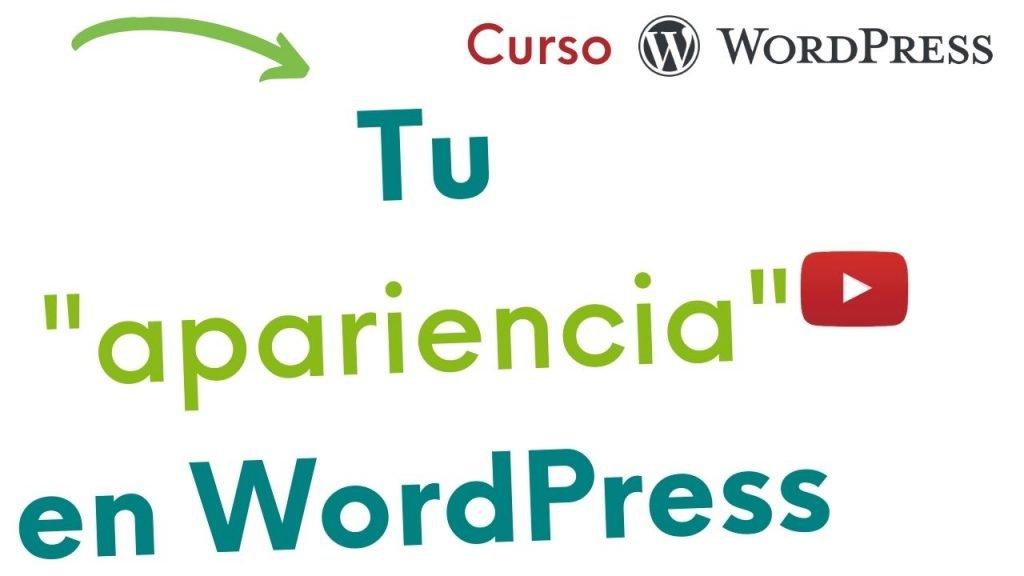Imagen con texto: tu apariencia en WordPress.