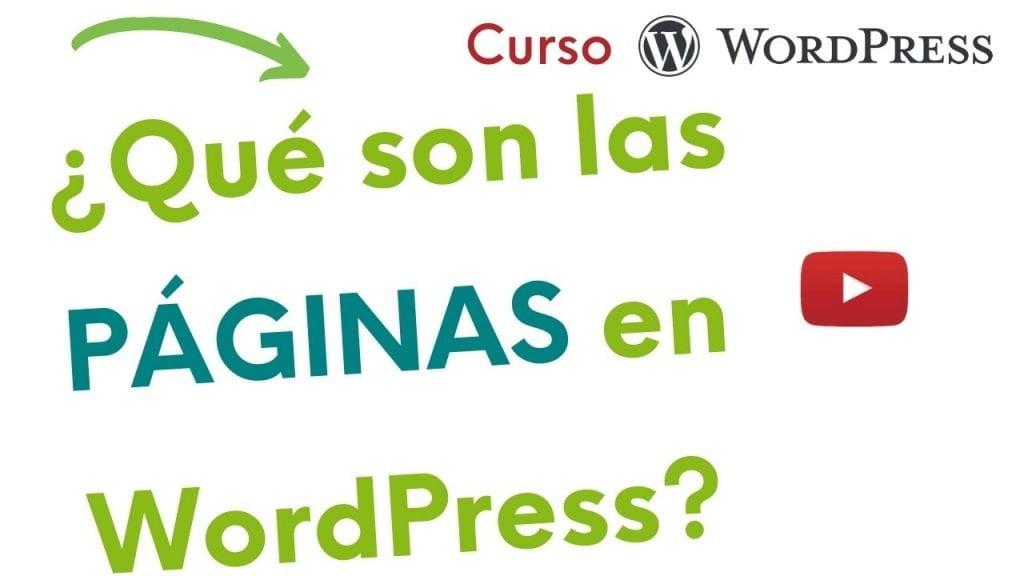 imagen con pregunta: ¿Qué son las páginas en WordPress?